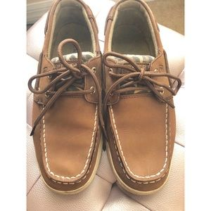 Sperry Top-Sider shoes with Cheetah print accent